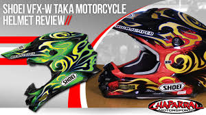 shoei motocross helmet shoei vfx w taka motorcycle helmet review youtube
