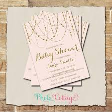 pink and gold baby shower invitations it s a girl baby shower invitation glitter gold invitation light