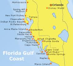 map of west coast of florida gulf coast florida locations florida west coast holidays