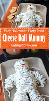 easy cheese mummy for halloween potluck
