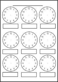 free printable blank clock faces worksheets math thinks