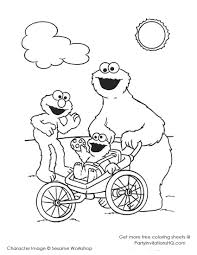 cookie monster coloring pages akma