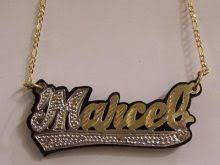 personalized name plate necklaces name plate necklaces gold accordion necklace