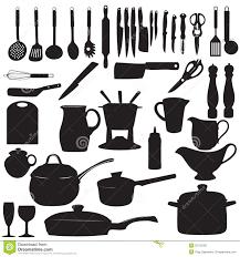 illustration cuisine la cuisine usine l illustration de vecteur de silhouette