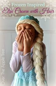 crochet elsa crown with hair free pattern u003e u003e over the apple tree