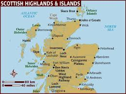 map of scotland and map of scottish highlands