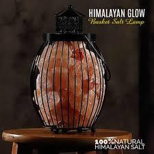 himalayan salt l basket lantern style pink salt basket l himalayan glow