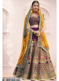 bridal wear bridal wear designer wine color embroidered silk lehenga choli
