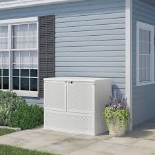 Lifetime 60012 Extra Large Deck Box Instructions by Amazon Com Suncast Vdb19500wsd Backyard Oasis Storage And