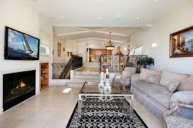 Living Room Tv Set Photo Lounge Sitting Room Interior Fireplace Sofa Carpet Television