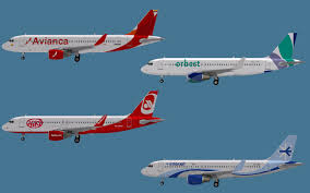 fs2004 repaints ai a320 200w avianca nc interjet niki orbest