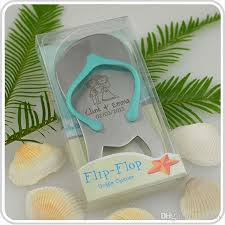personalised gift boxed thong bottle opener beach wedding favour