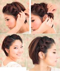 thick side braid pinned perfect for a longer pixie cut hair