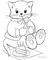 animal coloring pages of kittens