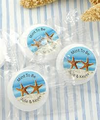 mint to be favors starfish personalized saver mint favors