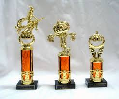 3 halloween trophies pumpkin scarecrow witch award trophy trunk or
