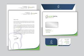 Letterhead And Business Cards by Modern Professional Logo Design For Nature Dental Laboratory Co