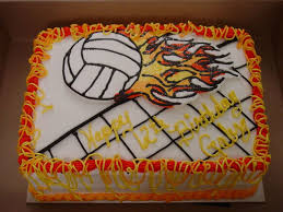 volleyball birthday cake cakecentral com
