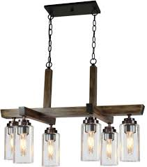 kitchen island light fixtures artcraft ac10866dp home glow distressed pine kitchen island