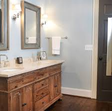 rustic bathroom mirror cabinet bathroom transitional with wall