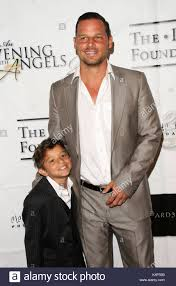 justin chambres justin chambers and jackson chambers attend