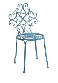 Turquoise Bistro Chair Distressed Metal Bistro Chair By Out There Interiors