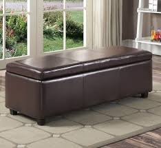 Large Storage Ottoman Bench Storage Ottoman Bench Upholstered Entryway Leather Bedroom Living