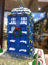 gingerbread tardis with how to diy instructions by fortunekitty