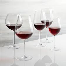 vineyard wine glasses crate and barrel