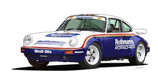 rothmans porsche 911 porsche 911 sc rs illustration digital by alain jamar