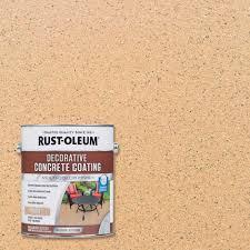 rust oleum 1 gal sahara decorative concrete coating 2 pack