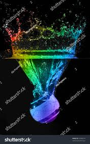 martini rainbow rainbow colors water splash christmas decoration stock photo