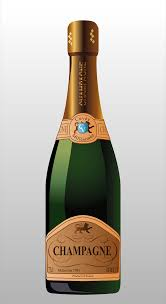 champagne bottle cartoon clipart bottle of champagne