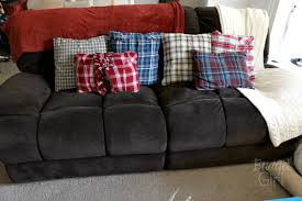 Couch Pillow Slipcovers Diy Pillow Covers From Old Shirts Tastefully Eclectic