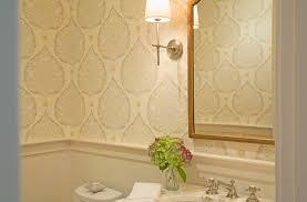 powder room lotus wallpaper scs design interiorsscs design