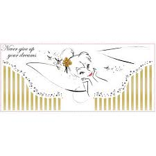 tinkerbell wall stickers custom wall stickers por characters disney fairies tinkerbell headboard giant wall decal