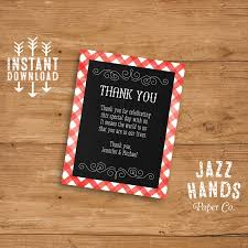 Wedding Invitation Insert Cards Printable I Do Bbq Thank You Card Or Insert Card Diy Printable