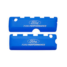 logo ford 2017 ford performance m 6067 50fp mustang coil covers blue logo 5 0l 11 17
