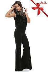 rochii online salopeta din catifea si dantela madelia fashion magazin online