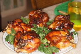 roasted brined cornish hens with pomegranate sauce remcooks