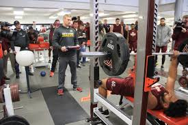 hokies show their talents at pro day radford news journal