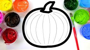 coloring halloween pumpkin numbers painting pages children