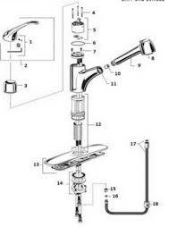 standard kitchen faucet parts diagram order replacement parts for standard 6310 easytouch
