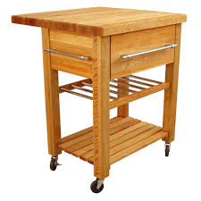 catskill craftsmen baby grand natural kitchen cart with drop leaf