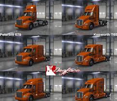 kenworth vs peterbilt schneider national skin v 2 0 t680 579 mod american truck
