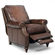 Leather Reclining Chairs Furniture Dark Modern Leather Recliner With Slim Recliner Chairs