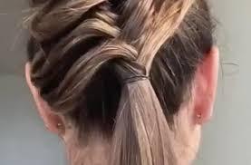 cuisiner des chignons de coiffure tresse avec une paille madmoizelle com