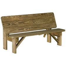 amish wood patio bench table combo