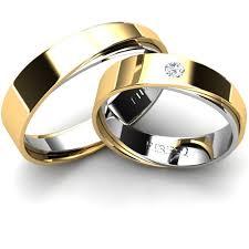 verighete cu diamant set verighete cu diamant in combinatie aur galben cu aur alb