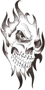 skull in tribal design